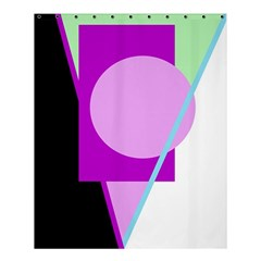 Purple Geometric Design Shower Curtain 60  X 72  (medium)  by Valentinaart