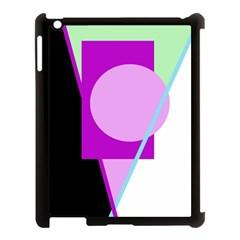 Purple Geometric Design Apple Ipad 3/4 Case (black) by Valentinaart