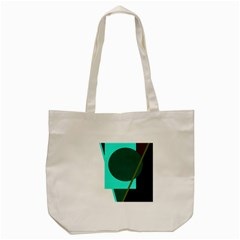 Geometric Abstract Design Tote Bag (cream) by Valentinaart