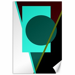 Geometric Abstract Design Canvas 20  X 30   by Valentinaart