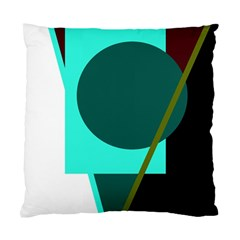 Geometric abstract design Standard Cushion Case (One Side) by Valentinaart