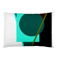 Geometric Abstract Design Pillow Case (two Sides) by Valentinaart