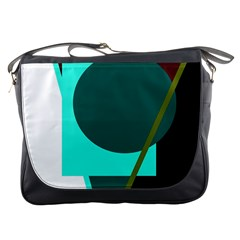 Geometric Abstract Design Messenger Bags by Valentinaart