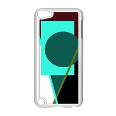 Geometric Abstract Design Apple Ipod Touch 5 Case (white) by Valentinaart