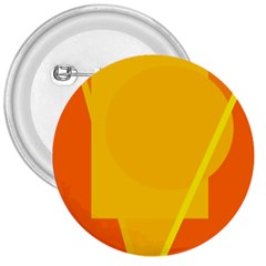 Orange Abstract Design 3  Buttons by Valentinaart