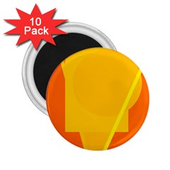 Orange Abstract Design 2 25  Magnets (10 Pack)  by Valentinaart