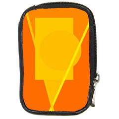 Orange Abstract Design Compact Camera Cases by Valentinaart
