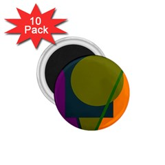 Geometric Abstraction 1 75  Magnets (10 Pack)  by Valentinaart