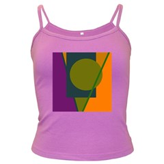 Geometric Abstraction Dark Spaghetti Tank by Valentinaart