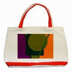 Geometric Abstraction Classic Tote Bag (red)