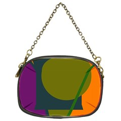 Geometric Abstraction Chain Purses (one Side)  by Valentinaart
