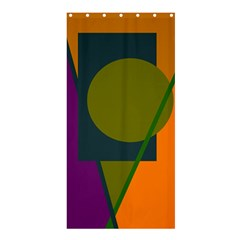 Geometric Abstraction Shower Curtain 36  X 72  (stall)  by Valentinaart