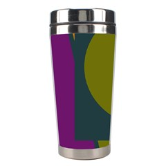 Geometric Abstraction Stainless Steel Travel Tumblers by Valentinaart