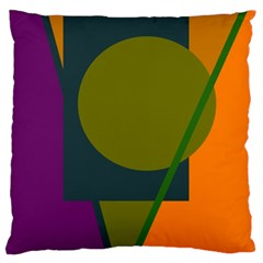 Geometric abstraction Large Flano Cushion Case (Two Sides) by Valentinaart