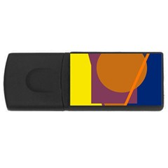 Geometric Abstract Desing Usb Flash Drive Rectangular (4 Gb)  by Valentinaart