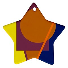Geometric Abstract Desing Star Ornament (two Sides)  by Valentinaart