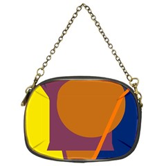 Geometric Abstract Desing Chain Purses (one Side)  by Valentinaart