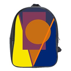 Geometric Abstract Desing School Bags(large)  by Valentinaart