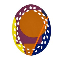 Geometric Abstract Desing Ornament (oval Filigree)  by Valentinaart