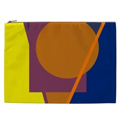 Geometric Abstract Desing Cosmetic Bag (xxl)  by Valentinaart