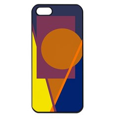 Geometric Abstract Desing Apple Iphone 5 Seamless Case (black) by Valentinaart