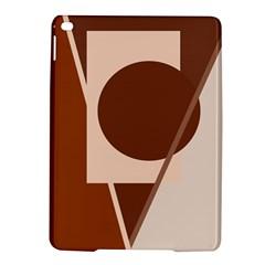 Brown Geometric Design Ipad Air 2 Hardshell Cases by Valentinaart