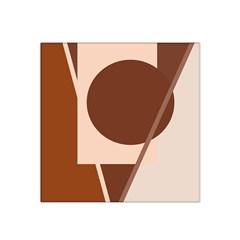 Brown Geometric Design Satin Bandana Scarf by Valentinaart