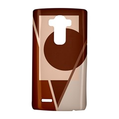 Brown Geometric Design Lg G4 Hardshell Case