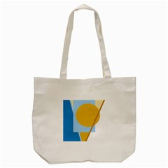 Blue And Yellow Abstract Design Tote Bag (cream) by Valentinaart
