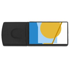Blue And Yellow Abstract Design Usb Flash Drive Rectangular (4 Gb)  by Valentinaart