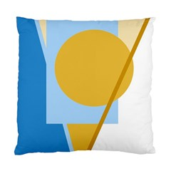 Blue And Yellow Abstract Design Standard Cushion Case (one Side) by Valentinaart