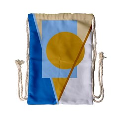 Blue And Yellow Abstract Design Drawstring Bag (small) by Valentinaart