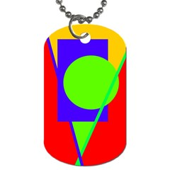 Colorful Geometric Design Dog Tag (two Sides) by Valentinaart