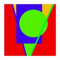 Colorful Geometric Design Medium Glasses Cloth (2 Side) by Valentinaart