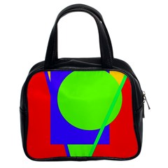 Colorful Geometric Design Classic Handbags (2 Sides) by Valentinaart
