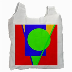 Colorful Geometric Design Recycle Bag (one Side) by Valentinaart