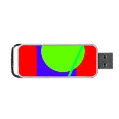 Colorful Geometric Design Portable Usb Flash (one Side) by Valentinaart