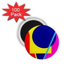 Colorful Geometric Design 1 75  Magnets (100 Pack)  by Valentinaart