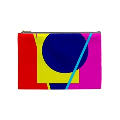 Colorful Geometric Design Cosmetic Bag (medium)  by Valentinaart