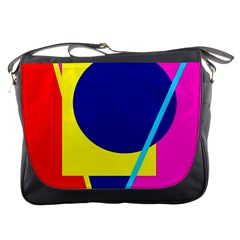 Colorful Geometric Design Messenger Bags by Valentinaart