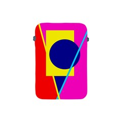Colorful Geometric Design Apple Ipad Mini Protective Soft Cases by Valentinaart