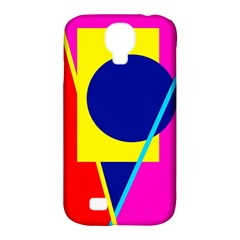 Colorful Geometric Design Samsung Galaxy S4 Classic Hardshell Case (pc+silicone) by Valentinaart