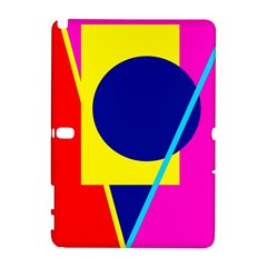 Colorful geometric design Samsung Galaxy Note 10.1 (P600) Hardshell Case by Valentinaart