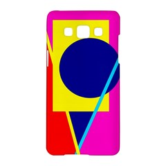 Colorful geometric design Samsung Galaxy A5 Hardshell Case  by Valentinaart