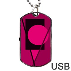Decorative Geometric Design Dog Tag Usb Flash (two Sides)  by Valentinaart