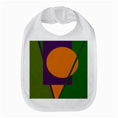Green And Orange Geometric Design Bib by Valentinaart