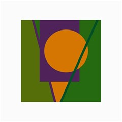 Green And Orange Geometric Design Collage Prints by Valentinaart