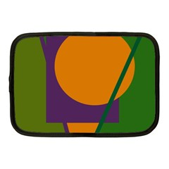 Green And Orange Geometric Design Netbook Case (medium)  by Valentinaart