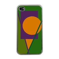 Green And Orange Geometric Design Apple Iphone 4 Case (clear) by Valentinaart