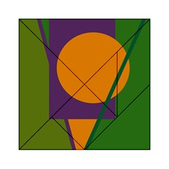 Green And Orange Geometric Design Acrylic Tangram Puzzle (6  X 6 ) by Valentinaart